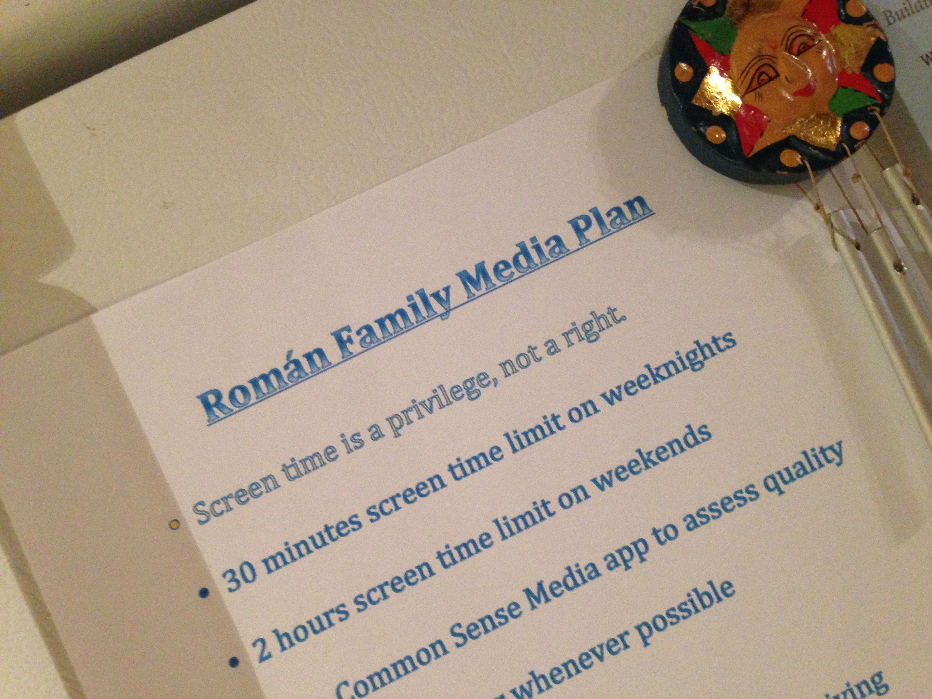 Making a Family Media Use Plan | My Two Hats